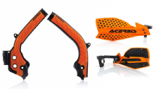 Acerbis Frame Cover X-Grip ORG SX SXF 125 250 16-18 X Ultimate HandGuards OR/BLK